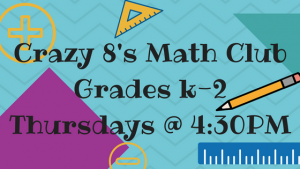 Crazy 8's Math Club Grades K-2