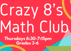 Crazy 8's Math Club: Grades 3-6