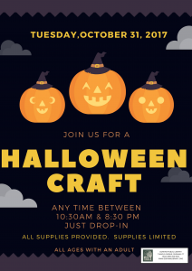 Drop-in Halloween Craft