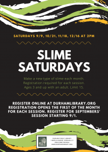 Slime Saturdays
