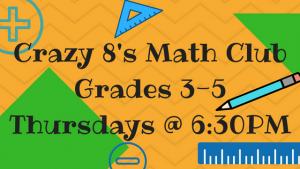 Crazy 8's Math Club Grades 3-5