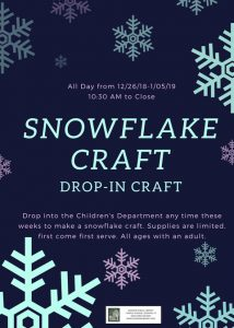 Drop-in Snowflake Craft