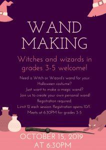 Wand Making Grades 3-5