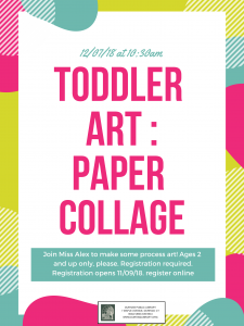 Toddler Art: Paper Collage